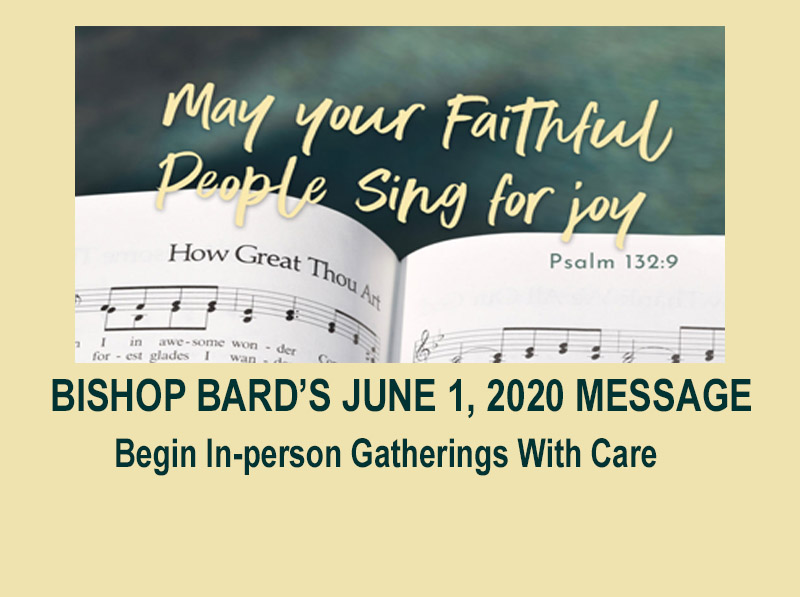Bishop Bard's June 1 Message